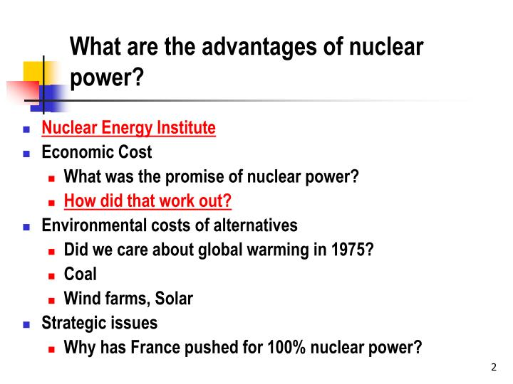 nuclear power presentation disadvantage Nuclear power in switzerland facts and figures - francesco vazzano - seminar paper - law - public law / administrative law - publish your bachelor's or master's thesis, dissertation, term paper or essay.