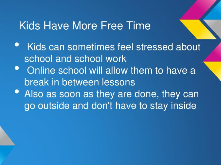 Kids Have More Free Time