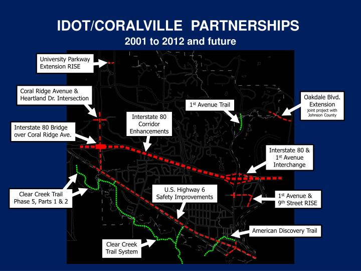 IDOT/CORALVILLE  PARTNERSHIPS