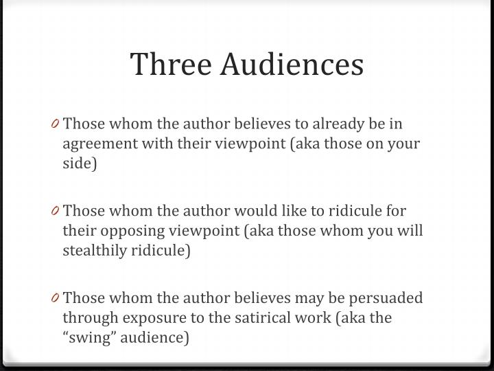 Three Audiences