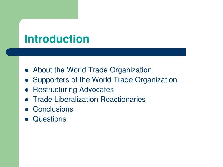 About the World Trade Organization