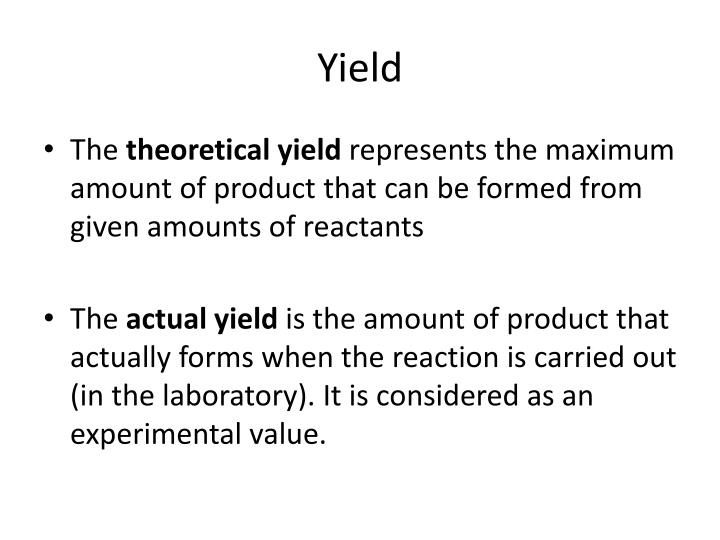 PPT Limiting Reactants PowerPoint Presentation ID2568743 – Percent Actual and Theoretical Yield Worksheet