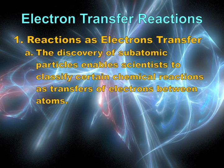 Electron Transfer Reactions