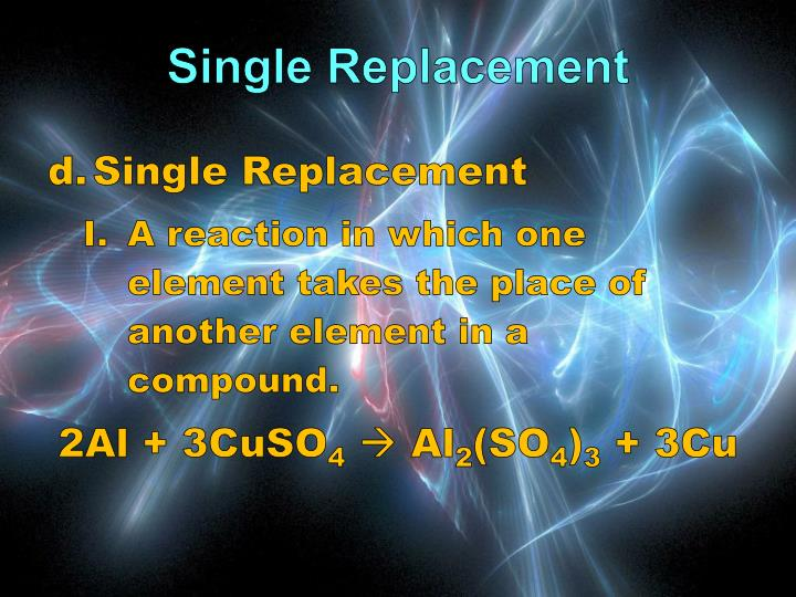 Single Replacement