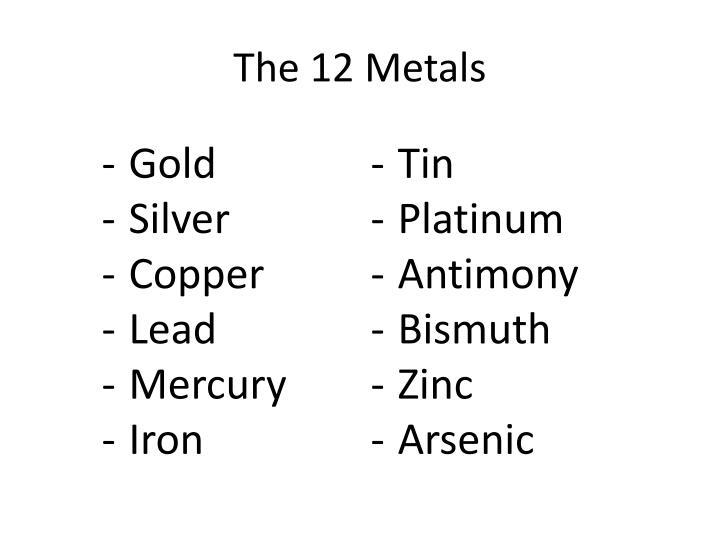 The 12 Metals