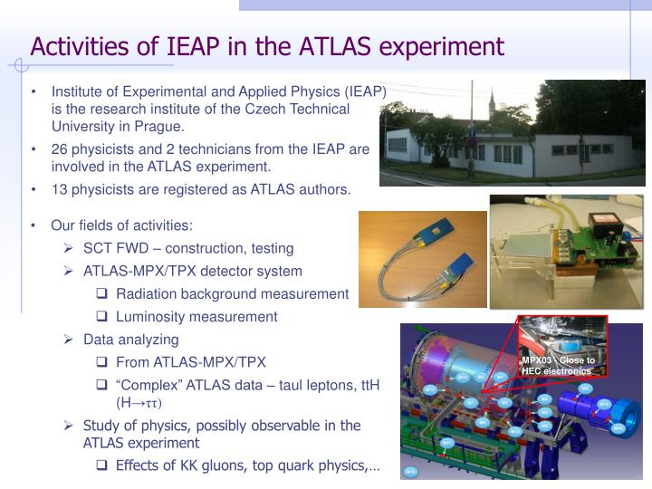 Activities of ieap in the atlas experiment