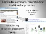 knowledge commons reconstituting traditional approaches