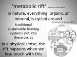 metabolic rift bellamy foster 2009