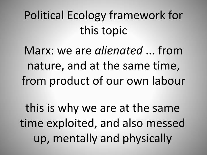 Marx: we are