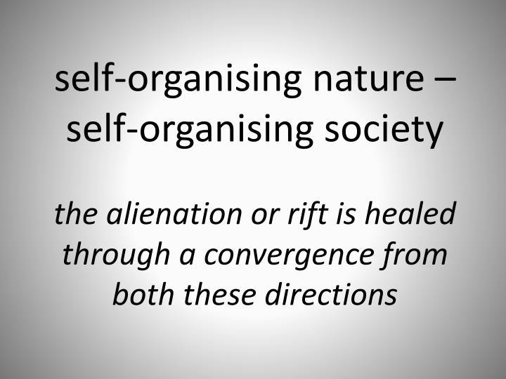self-organising