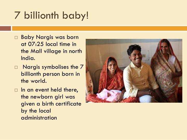7 billionth baby!