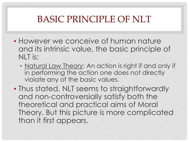 Basic Principle of NLT