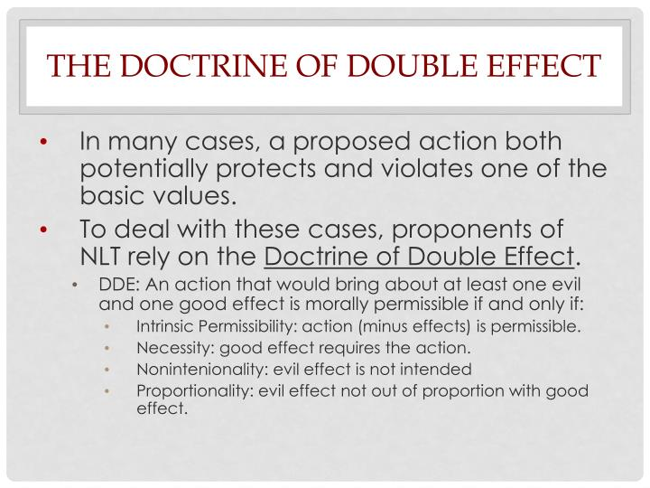 The Doctrine of Double Effect
