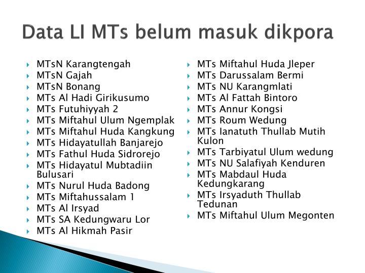 Data LI MTs