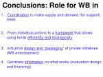 conclusions role for wb in