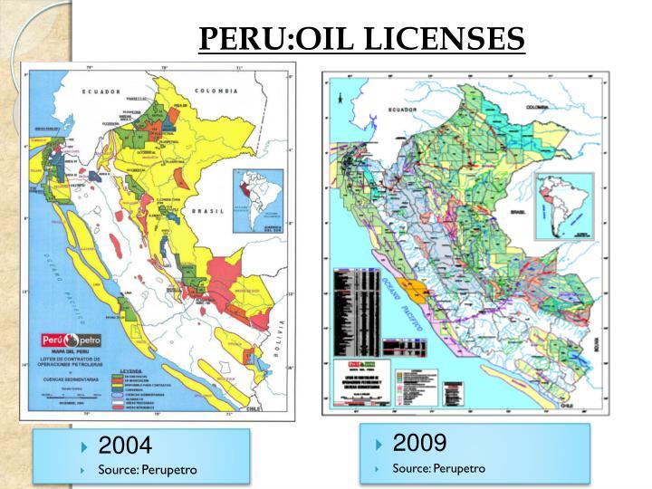 PERU:OIL LICENSES