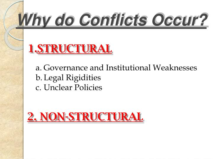 Why do Conflicts Occur?