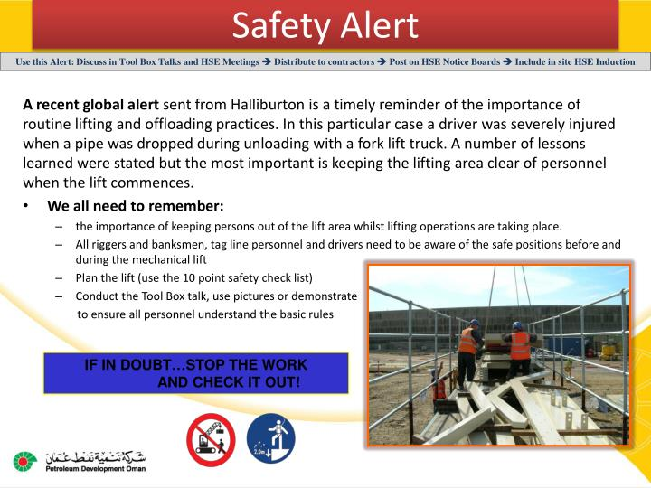 Ppt Safety Alert Powerpoint Presentation Id 2569445