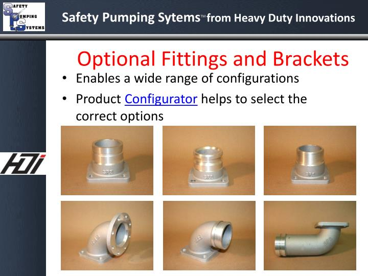 Optional Fittings and Brackets