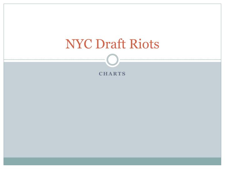 Nyc draft riots