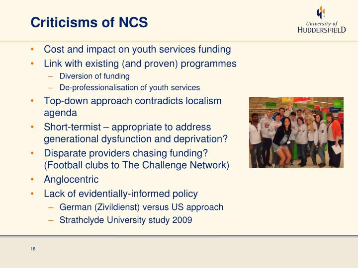 Criticisms of NCS