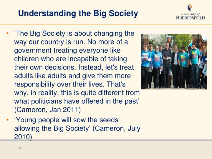 Understanding the Big Society