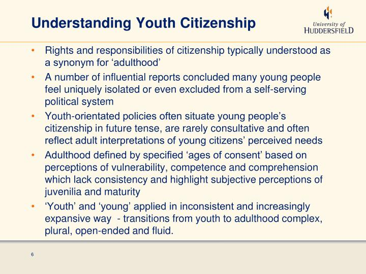 Understanding Youth Citizenship