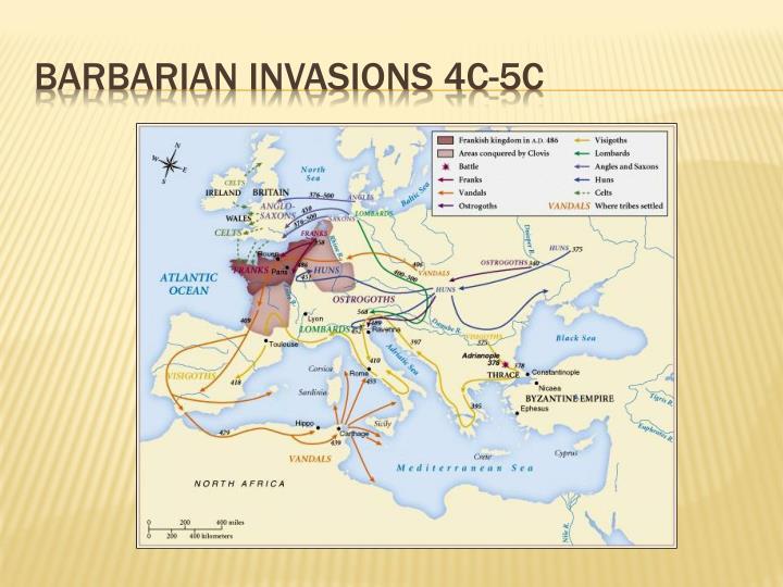Barbarian invasions 4c-5c