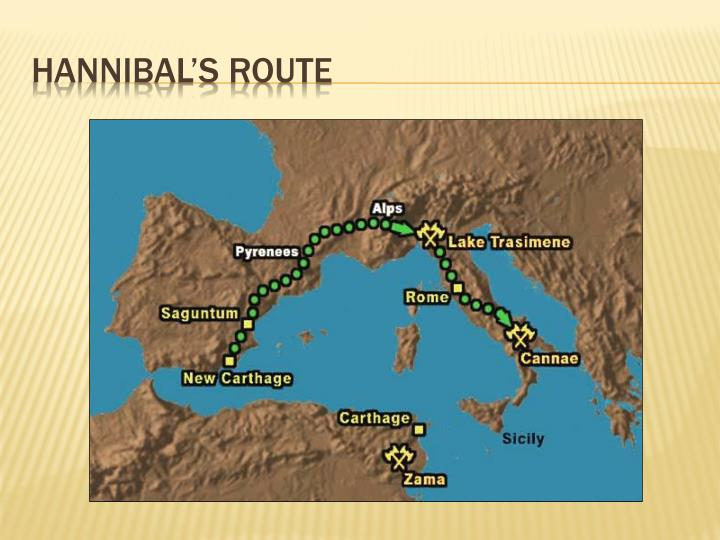 Hannibal s route