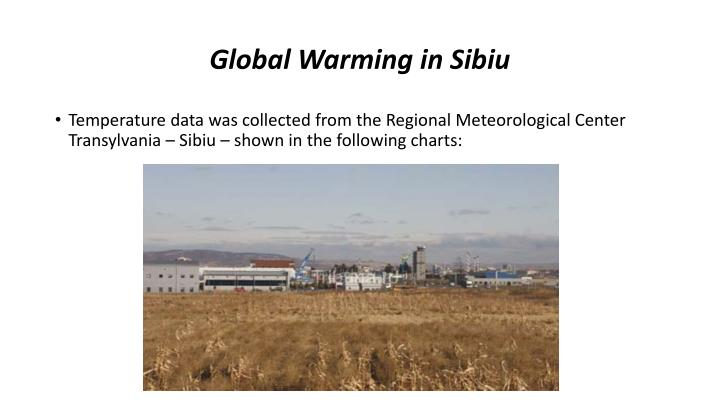Global Warming in Sibiu