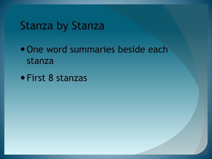 Stanza by Stanza