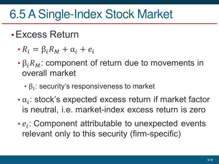 6.5 A Single-Index Stock Market
