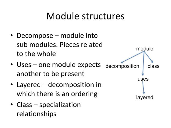 Module structures