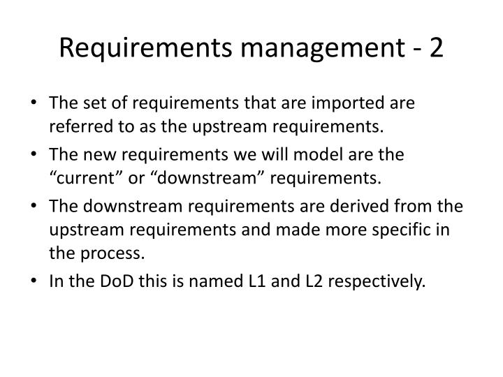 Requirements management - 2