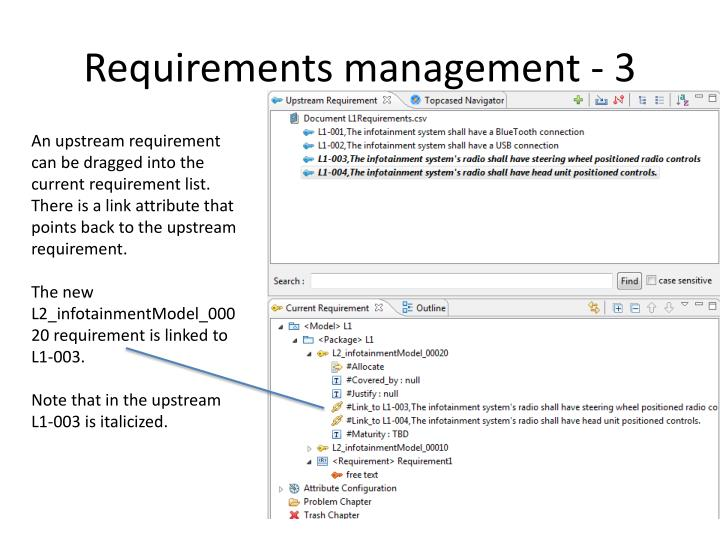 Requirements management - 3