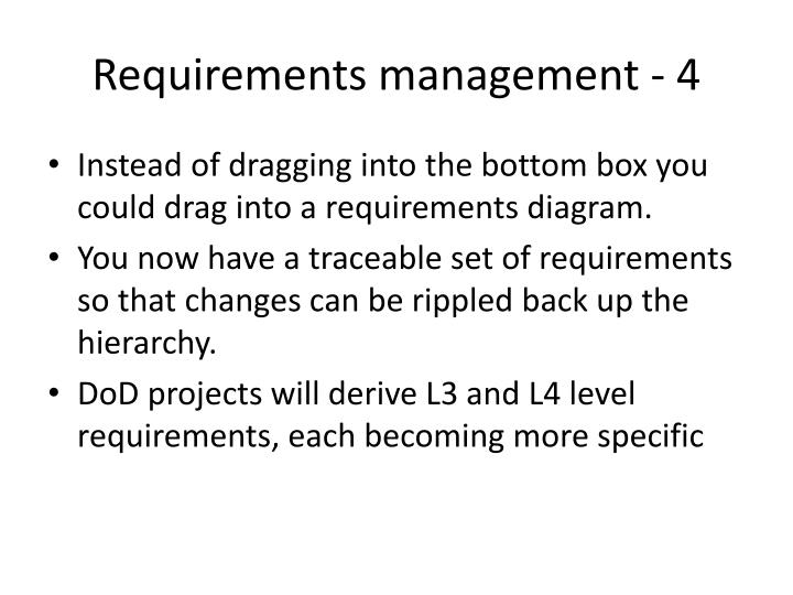 Requirements management - 4
