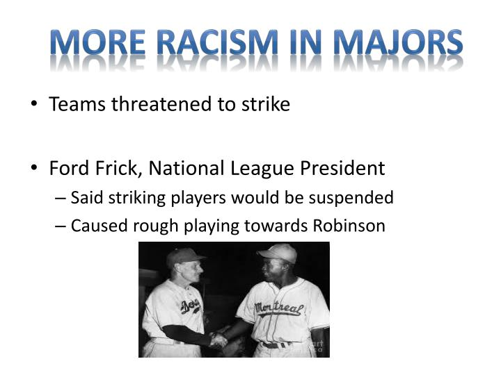 More racism in majors