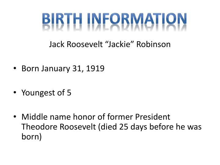 Birth Information