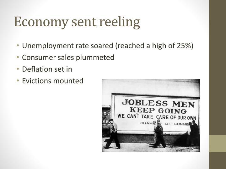Economy sent reeling