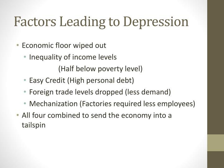 Factors Leading to Depression