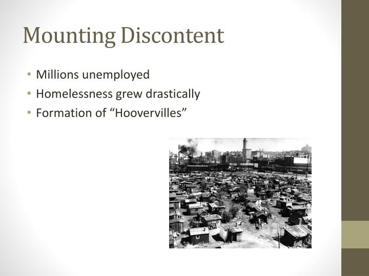 Mounting Discontent