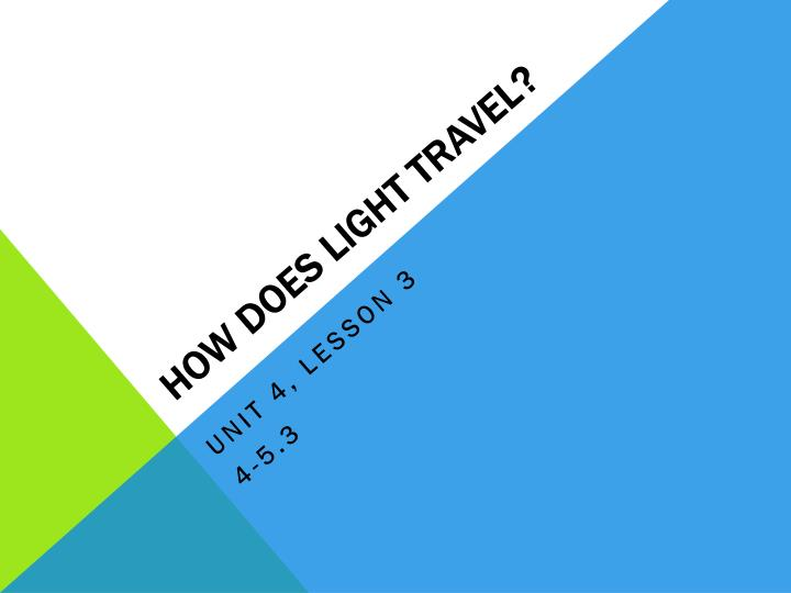 Ppt How Does Light Travel Powerpoint Presentation Id