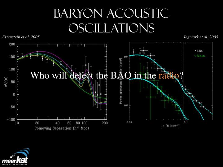 Baryon acoustic oscillations1