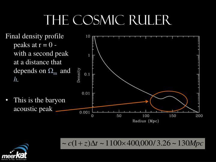 The Cosmic RULER