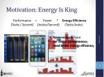 motivation energy is king