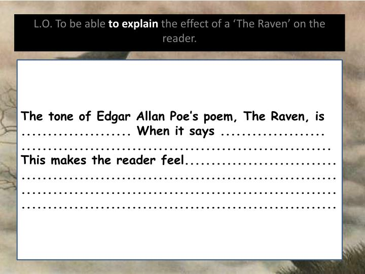 The tone of Edgar Allan Poe's poem, The Raven, is