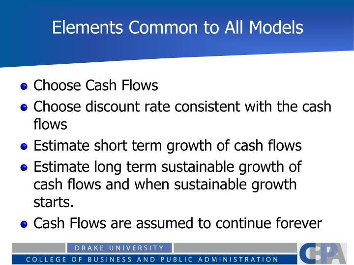 Elements Common to All Models