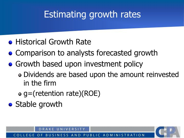 Estimating growth rates