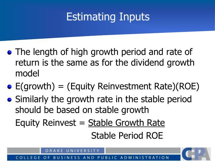 Estimating Inputs