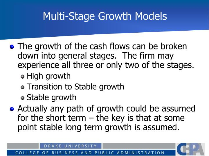 Multi-Stage Growth Models